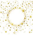 round banner gold stars vector image vector image