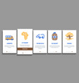 safari travel onboarding elements icons set vector image
