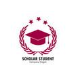 scholar student vector image