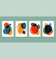 set abstract hand drawn organic shape bright vector image