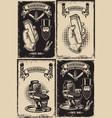 set barber shop poster templates design vector image vector image