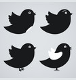 set of birds icons vector image