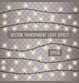 set overlapping glowing string lights on a vector image vector image