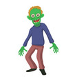 smiling zombie icon cartoon style vector image vector image