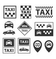 taxi icons taxi service signs set in vector image