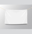 textile banner on transparent background white vector image