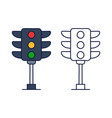 traffic light icon from driving school collection vector image