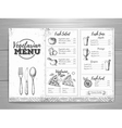 Vintage vegetarian menu design vector image
