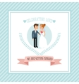 Wedding and marriage couple design vector image vector image