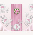 wedding table set up vector image vector image