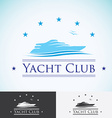 Yacht club logo design template sea cruise vector image