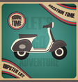 281retro scooter poster vector image