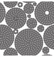 embroidery seamless pattern ornament with black vector image