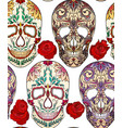 seamless texture with of sugar skulls vector image