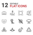 12 connect icons vector image vector image