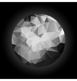 Abstract black and white sphere polygonal vector image vector image