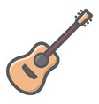 acoustic guitar filled outline icon music vector image vector image