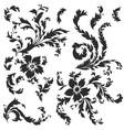 baroque pattern elements vector image vector image