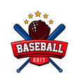 bat-and-ball game logotype with text brand vector image vector image