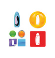 Bathroom and hygiene icon vector image vector image