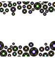 black vynil records pattern vector image vector image