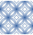 blue floral pattern halftone background vector image vector image