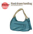 blue handbag graphic style vector image