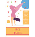body positive text social page geometric design vector image