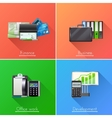Business Design Concept Set vector image vector image