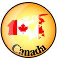 button Canada vector image