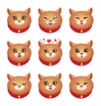 Cats emotions set vector image vector image