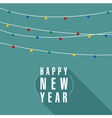Christmas and New Year garland vector image vector image