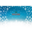 christmas background with snowflake winter vector image vector image