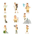collection children scouts camping outfit vector image