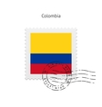 Colombia Flag Postage Stamp vector image vector image
