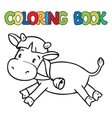 Coloring book of little funny cow or calf vector image vector image