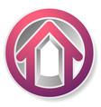 contour house building symbol icon or logo vector image vector image