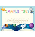 Diploma with astronomy book background vector image vector image