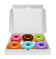 donuts realistic bakery delicious tasty food vector image