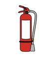 fire extinguisher with blank label icon image vector image vector image