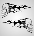 Flaming Skull vector image vector image