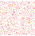 floral seamless pattern flower icon gentle vector image vector image