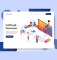 full stack developer isometric concept vector image vector image
