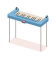 funny synthesizer electronic piano musical vector image