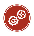 gears team work cooperation wheels cogs vector image vector image