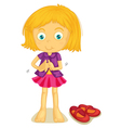 Girl Dressing up vector image vector image