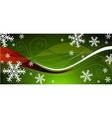 green Christmas decoration vector image
