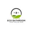 green eco natural bathroom logo designs modern vector image
