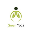 green yoga vector image