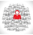 group of businessmen background vector image
